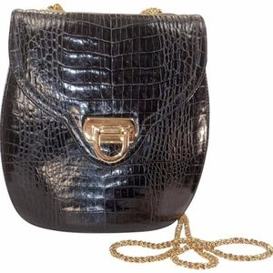 Frenchy Of California Black Leather Crossbody